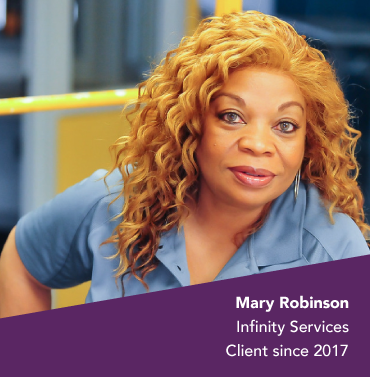 Mary Robinson, client of Lead Bank