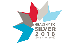 The Silver Level Healthy KC Certified 2018 logo